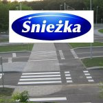 Śnieżka - solvent-based paint for horizontal signage of Signomal roads